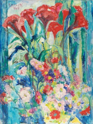 Roman BILIŃSKI (1897-1981), Bukiet kwiatów [Fiori misti], 1967