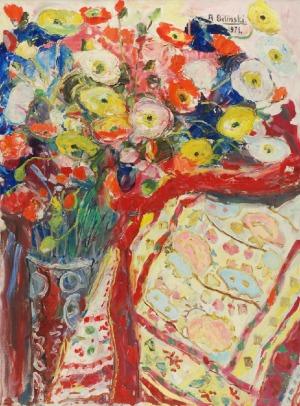Roman BILIŃSKI (1897-1981), Maki na wzorzystym dywanie [Papaveri con tapeto], 1971