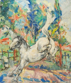 Roman BILIŃSKI (1897-1981), Biały koń [Cavallo in bianco], 1961