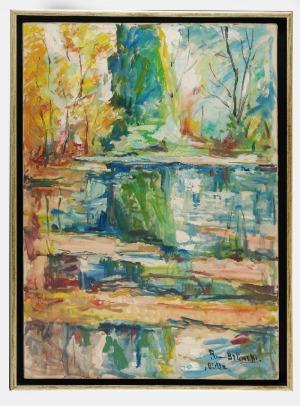 Roman BILIŃSKI (1897-1981), Nad jeziorem w Biella [Biella - Bosco sul lago], 1964