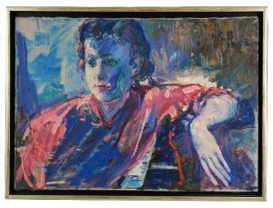 Roman BILIŃSKI (1897-1981), Portret M. P. [Ritratto M. P. - Ragazza in rosa], 1958