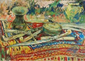 Roman BILIŃSKI (1897-1981), Martwa natura z szablami [Sciabole], 1971