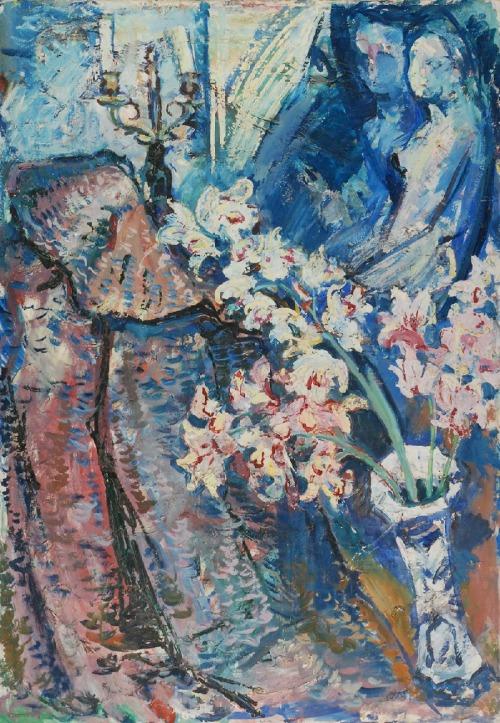 Roman BILIŃSKI (1897-1981), Orchidee w porcelanowym wazonie [Orchidee con vaso], 1962