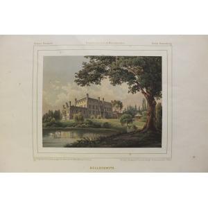 BAŁOSZYCE, Widok na pałac, rys. prof. Schultz, Th. Albert, lit. w zakładzie Winckelmann & Söhne, pochodzi z: ...