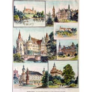 DOLNY ŚLĄSK, Zamki i pałace dolnośląskie w 7 sekcjach: 1) Szalejów Dolny – Schloss Nieder-Schedeldorf; 2) B ...