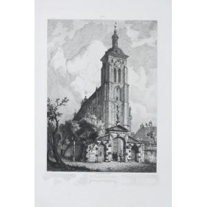GDAŃSK, Kościół św. Bartłomieja (dziś konkatedra greckokatolicka), rys. i ryt. Johann Carl Schultz, po ...