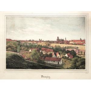GDAŃSK, Widok miasta, anonim, pochodzi z: Borussia, Museum für Preussische Vaterlandskunde, Drezno 1838-184 ...