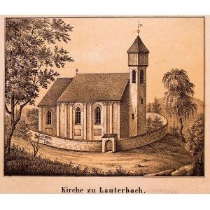 GOWORÓW, Kościół św. Piotra i Pawła (?), lit. Friedrich August Pompejus, pochodzi z: Album der Grafschaf ...