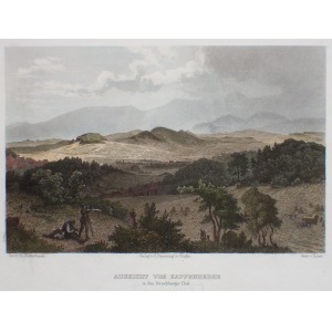 JELENIA GÓRA, Panorama Kotliny Jeleniogórskiej, ryt. Kaspar Ulrich Huber, rys. Theodor Blätterbauer, publikowane ...
