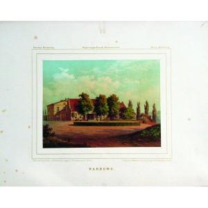 KARBOWO, Widok na pałac, rys. M. Behrendt, lit. w zakładzie Winckelmann & Söhne, pochodzi z: Duncker, Alex ...