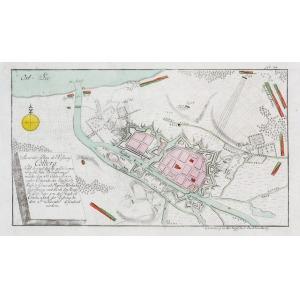 KOŁOBRZEG, Plan pierwszego oblężenia Kołobrzegu przez wojska rosyjskie w czasie wojny siedmioletniej; anonim ...