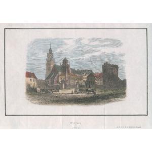KRAKÓW, Widok na Kaplicę Zygmuntowską na Wawelu, anonim, pochodzi z: Illustrirten Magazins, 1846; drzew. s ...