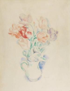 Józef PANKIEWICZ (1866-1940), Tulipany w dzbanie [Tulipany w wazonie], ok. 1920