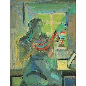 Jan EKIERT (1907-1993), Kobieta z koralami, 1950