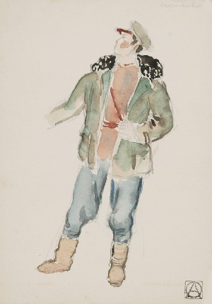 Otto AXER (1906-1983), Projekty kostiumów wraz z projektami scenograficznym do: Poemat pedagogiczny 1933-1935, Anton Makarenko