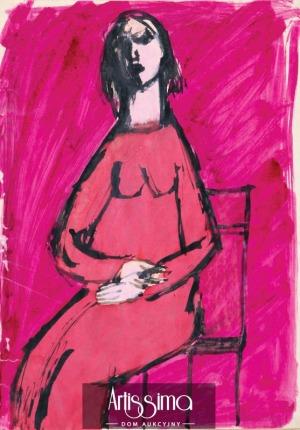 Jonscher Barbara, Kobieta w różowej sukience