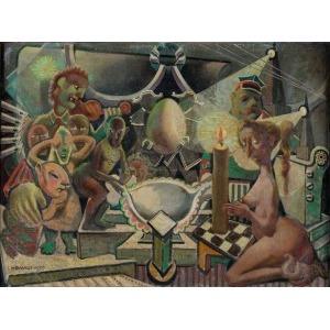 Ildefons Houwalt, Kompozycja zpostaciami, 1955