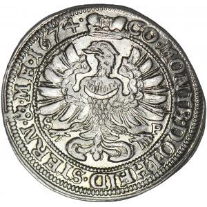 Księstwo Oleśnickie, 6 krajcarów 1674 SP, Oleśnica, Sylwiusz Fryderyk