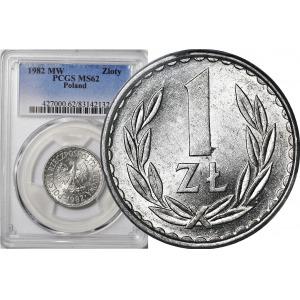 R-, 1 złoty 1982 wąska data, b. rzadkie