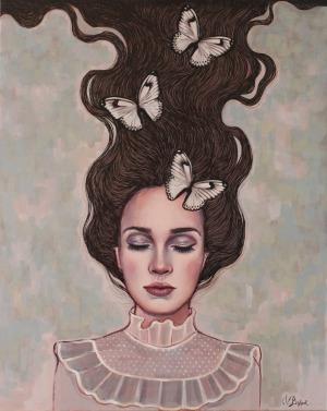 Viola Bąbol, Muza kontemplująca o motylach, 2017