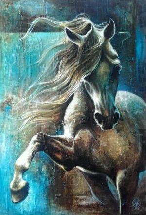 Kamila Karst , Blue horse, 2017