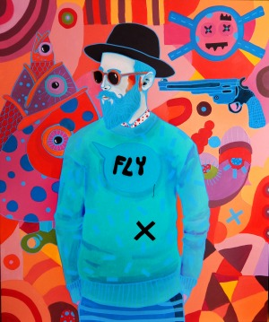 Marcin Painta,On i trzy ryby,2017