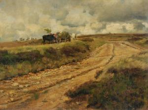 Eugen BRACHT (1842-1921), Pejzaż z polną drogą