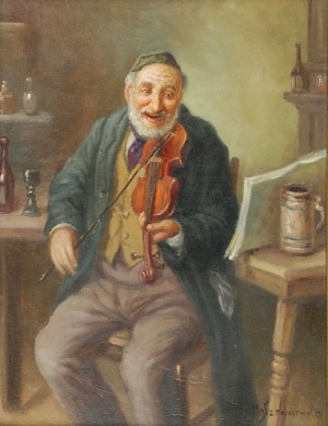 Konstanty SZEWCZENKO (1910-1991), Żyd grający na skrzypcach