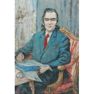Alojzy SIWECKI (1912-1988), Portret Mariana Koniecznego, 1977
