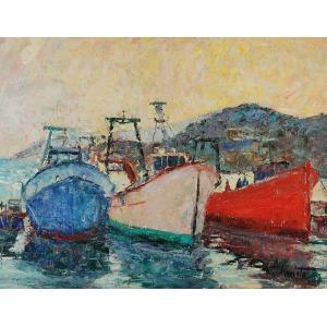 Franciszek KMITA (1926-2013), Peniscola Puerto [Okręty], 1982