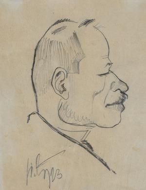 Kazimierz SICHULSKI, KARYKATURA JANA PTAŚNIKA, 1923