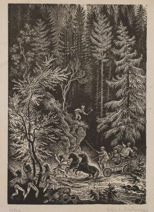 Zofia FIJAŁKOWSKA, HARNASIE (NAPAD ZBÓJNIKÓW), 1951