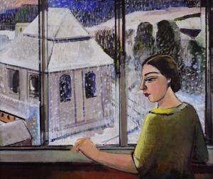 Anna Karpowicz-Westner (Ur. 1951), Zima z różowym niebem
