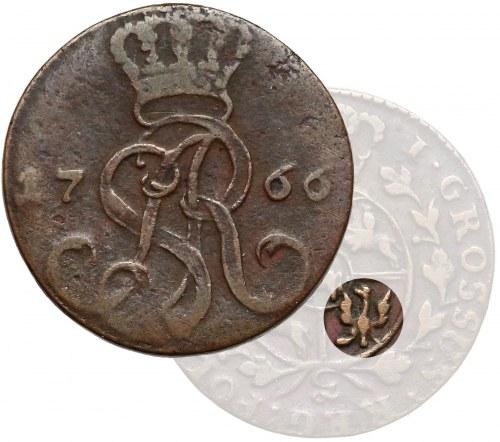 Poniatowski, Grosz 1766-g - fałszerstwo PRUSKIE