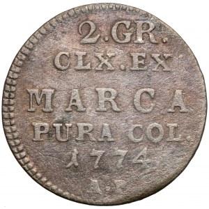Poniatowski, Półzłotek 1774 A.P.