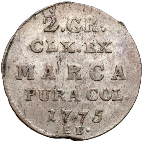 Poniatowski, Półzłotek 1775 E.B. - bez kropki
