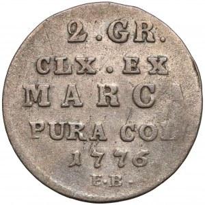 Poniatowski, Półzłotek 1776 E.B. - rzadszy
