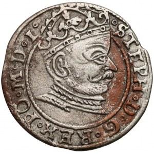 Stefan Batory, Grosz Ryga 1581 - pełna data - RIGEN