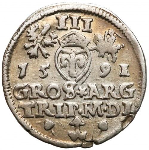 Zygmunt III Waza, Trojak Wilno 1591 - gwiazdki