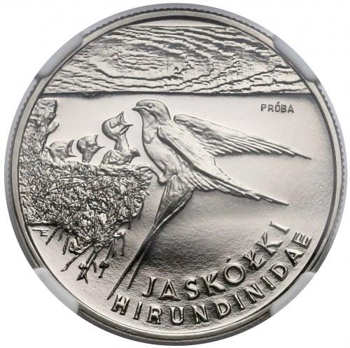 Próba NIKIEL 20.000 złotych 1993 Jaskółki