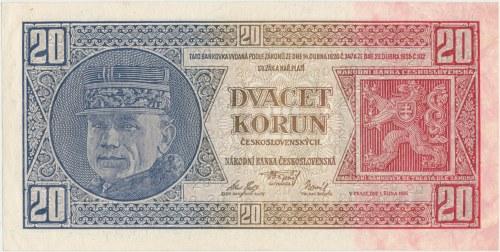 Czechoslovakia, 20 Korun 1926 - Lf