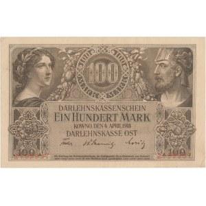 Kowno 100 marek 1918