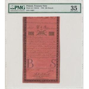 100 złotych 1794 - A - J HONIG [& ZOONEN] - PMG 35