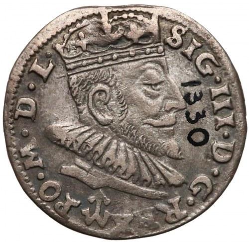 Zygmunt III Waza, Trojak Wilno 1590 - herb Chalecki
