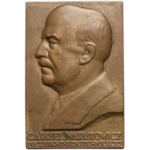 Plakieta MW (40X27) Gabriel Narutowicz - Prezydent RP