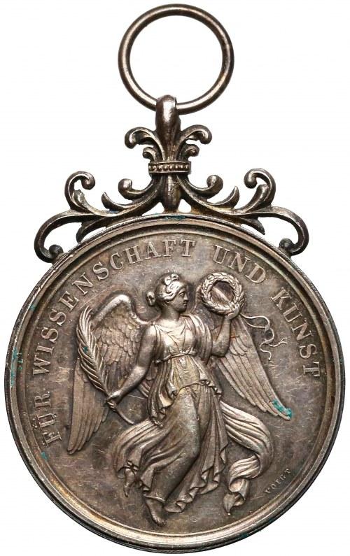 Niemcy, Bawaria, Medal za szczególne osiągnięcia 1914 r. (J.RIES/VOIGT) srebro - RZADKOŚĆ