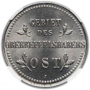 Ober-Ost. 2 kopiejki Hamburg 1916-J - NGC MS65