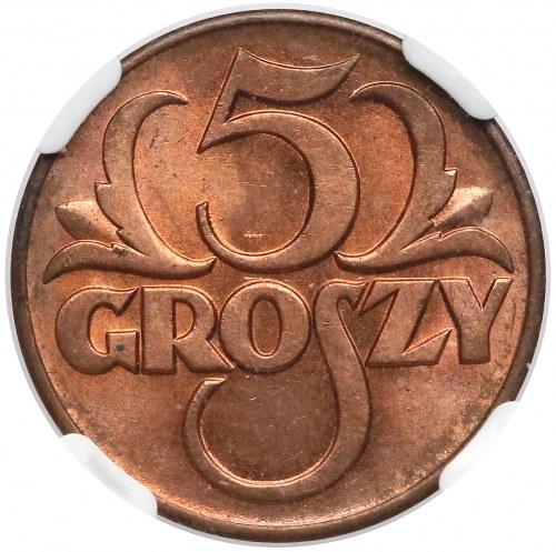 5 groszy 1939 - NGC MS65 RB