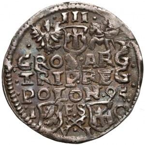 Zygmunt III Waza, Trojak Bydgoszcz 1595 - haki i litery VI