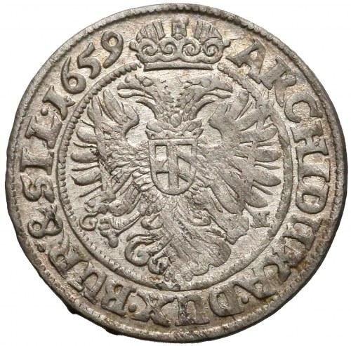 Leopold I, Wrocław, 3 krajcary 1659 GH